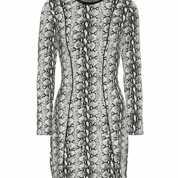 Snakeskin-printed minidress