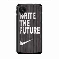 Nike Write Future Wood Nexus 5 Case