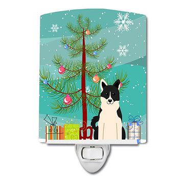 Merry Christmas Tree Russo-European Laika Spitz Ceramic Night Light BB4154CNL