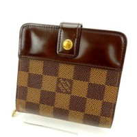 Louis Vuitton Wallet Purse Bifold Damier Woman Authentic Used Y690