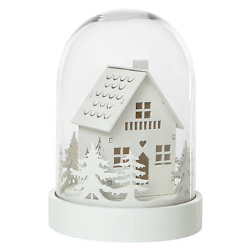 Buy John Lewis Forest Scene In Large Glass Dome | John Lewis