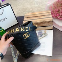 161 Fashion Classic Chain Crossbody Handle Quilted Bucket Bag 18-9-22cm