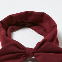 AEO Women's Bow Headband (Burgundy)