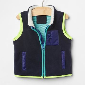 Gap Colorblock Fleece Vest