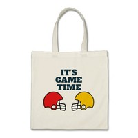 It's Game Time Football Helmet Tote Bag