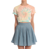 Hearts & Bows Peach Upland Tie Dye Crop Top