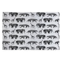 Sharon Turner Graphic Zoo Woven Rug