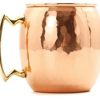 S/2 Hammered Copper Moscow Mule Mugs