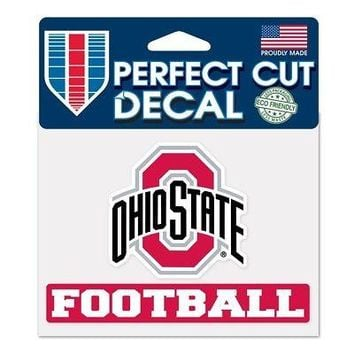 "Licensed Ohio State Buckeyes NCAA 4.5""x5.75"" Football Perfect Cut Car Decal 373878 KO_19_1"