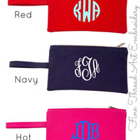 Canvas Clutch, Solid Colors
