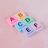 6PCS Kawaii Pencil Erasers for Office School Stationery Supplies Kids Prize Writing Drawing Student Gift Party Favor