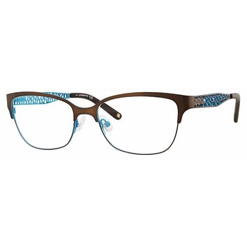 Liz Claiborne - L 643 54mm Brown Green Eyeglasses / Demo Lenses