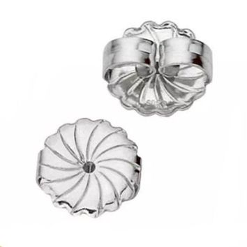 A Pair Solid Sterling Silver 10MM Extra Large Butterfly Push Back Earring Backs