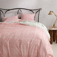 Sheela Duvet by Nandini Mariwala Savin Pink King Bedding