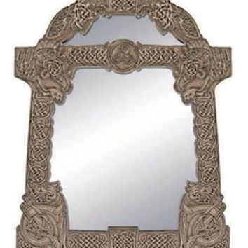 Celtic Wall Hanging Mirror Bronze Finish 20.5H