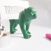 Custom Color Monkey Toy Business Card Holder // Painted Primate Animal Toy // Unique Gift Idea