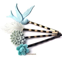 SF Ocean Beach Bobby Pins Set  Free Shipping to the by lizhutnick