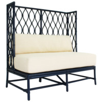 Ambrose Blueberry Banquette Bench