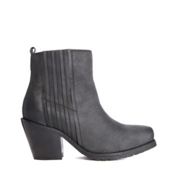 Park Lane Stacked Heel Ankle Boots - Black