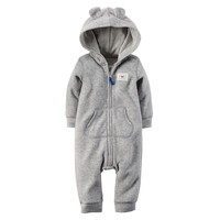 Carter's Raccoon Fleece Coverall - Baby Boy, Size: