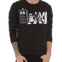 Doctor Who Abbey Road Crewneck Sweatshirt
