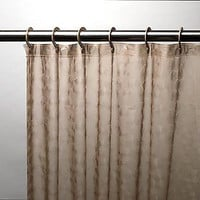Royal Bath 3D Effect 5-Gauge PEVA Shower Curtain w/ Built-in Hooks - Brown