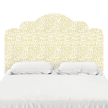 Gold Stripes Headboard Decal
