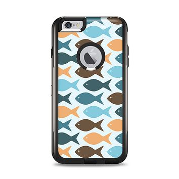 The Vector Fishies V1 Apple iPhone 6 Plus Otterbox Commuter Case Skin Set