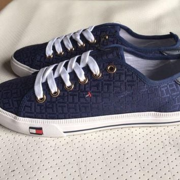 ICIKID4 Tommy Hilfiger' Fashion Canvas Flats Sneakers Sport Shoes