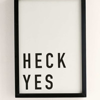 Assembly Home Heck Yes Framed Wall Art - Urban Outfitters