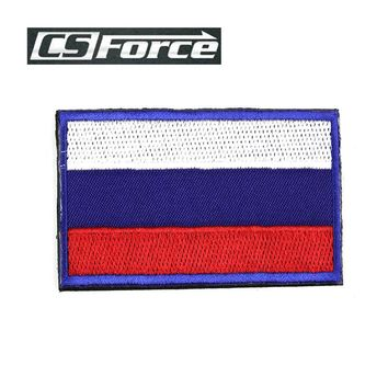 Russia National Flag Russian Embroidery 3D Badge Patches Morale Military Armband with Sticker Backside Tactical Hunting Patches
