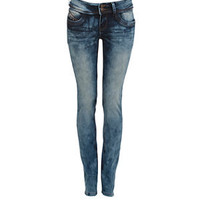 32in Blue Washed Denim Skinny Jeans