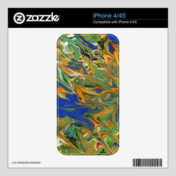 Cell phone skin, Original abstract painting, Select Apple, BlackBerry, HTC, Kyocera and LG styles, Free Shipping