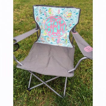 Lilly Pulitzer Inspired Monogram Lawn Chair  sc 1 st  wanelo.co & Best Monogram Chairs Products on Wanelo