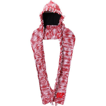 Wisconsin Badgers adidas Women's Hooded Scarf – Cardinal