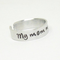 My mom my hero ring - Mother's day gift - Gift for mom - Mother gift - Mother birthday gift - Gift for Mothers Day
