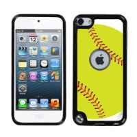 One Tough Shield ® Rigid/Flexible Hybrid Case (Black Bezel) for Apple iPod Touch 5 5G 5th Generation - Green Softball