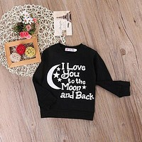 Toddler newborn Baby Boys Girls Cotton Long Sleeve shirt Tops  Sweater  children hoodies girl boy for autumn