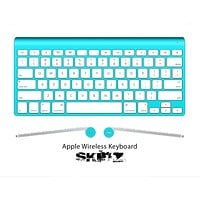 The Solid State Turquoise V2 Skin For The Apple Wireless Keyboard