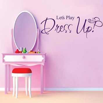 DCTOP Let's Play Dress up Cheap Wallpaper Mural Big Wall Sticker For Kids Room Wall Art Decals Home Decoration Accessories