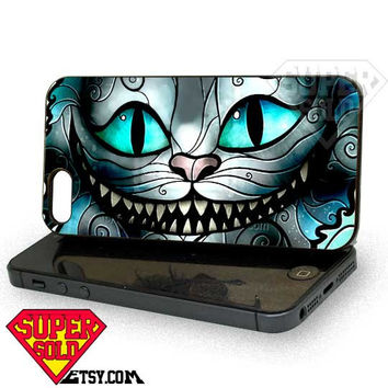 cheshire cat smile - iPhone 4/4s/5 Case - Samsung Galaxy S3/S4 Case - Black or White