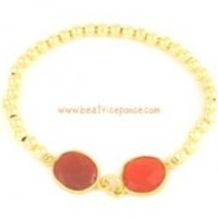 Carnelian Nuggets with Goldfilled Rounds Bracelet