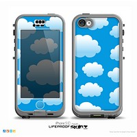 The Cartoon Cloudy Sky Skin for the iPhone 5c nüüd LifeProof Case