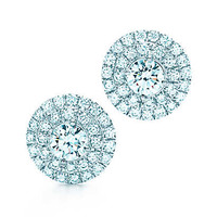 Tiffany & Co. - Tiffany Soleste earrings of diamonds in platinum.