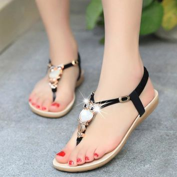 Trendy Beaded Sandals strappy shoes
