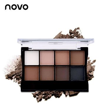 NOVO 8 Colors Matte Nude Mineral Eyeshadow Pallate Shining Naked Eye Shadow Primer Pallate Beauty Makeup Cosmetics With Brush
