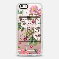 Good Vibes Only Floral // Black & Transparent iPhone 6s case by Samantha Ranlet | Casetify