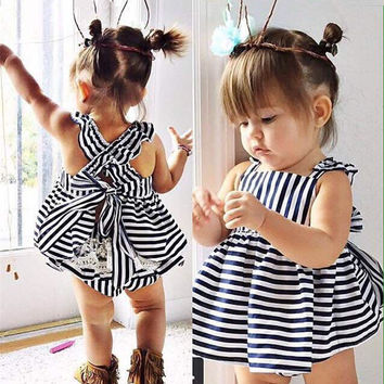 Stripe Dress Clothing