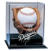 Los Angeles Dodgers MLB Soft Brown Glove Baseball Display