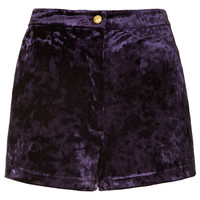 Crushed Velvet Shorts - Shorts - Clothing - Topshop USA